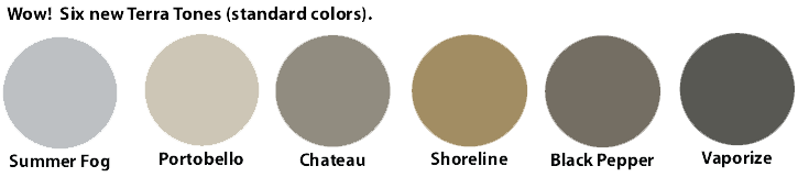 6 new standard colors - Terra Tones