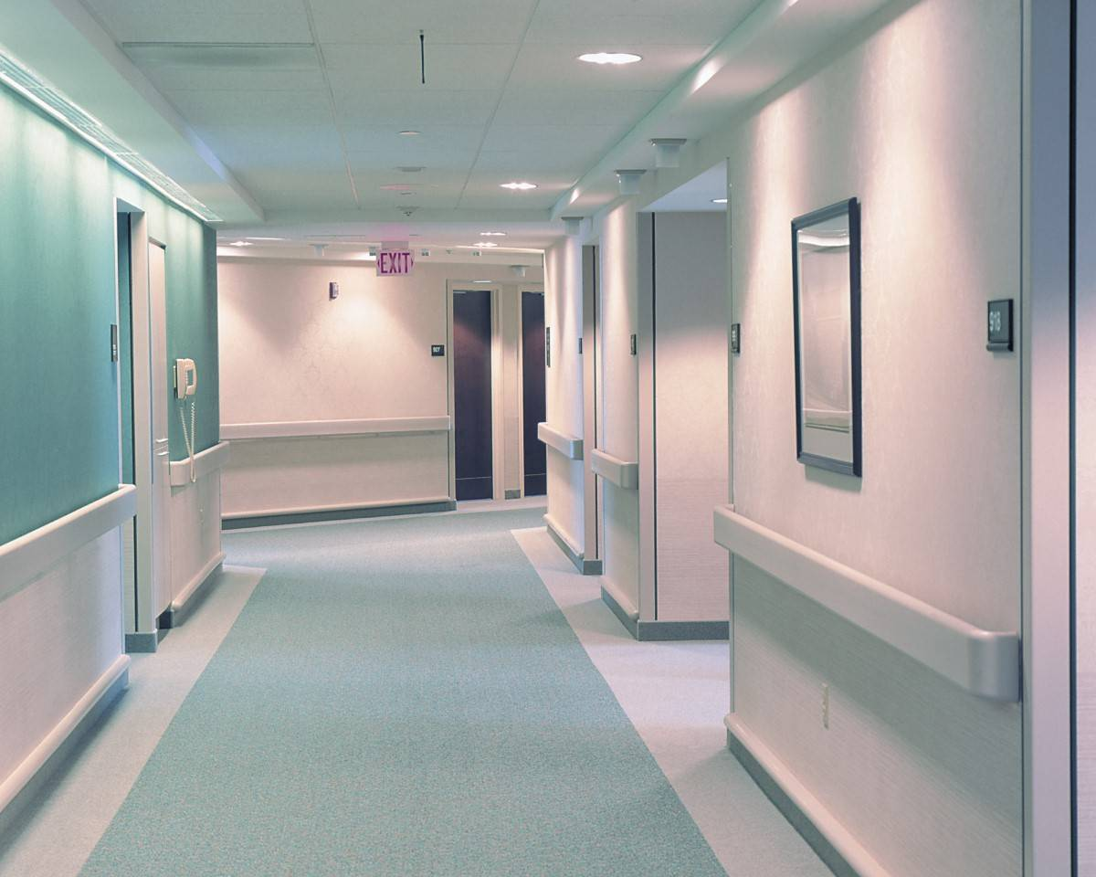 Hospital Handrail 2021 in Corridor