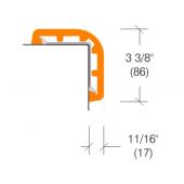 "2362 Rubber Corner Guard, 3"" Wing"