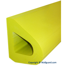 "2250.2- Rubber D-Shaped Bumper 4"" x 4"" Yellow"