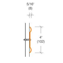 """2170.1 Clear Chair Rail Lexan Wallguard 4"""" High"""