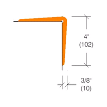"2360 Flexible Vinyl Corner Guard, 4"" Wing"