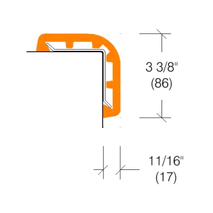 "2362 Rubber Corner Guard, 3"" Wing"