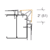 2330C.1 Stainless Steel Flush Mounted Corner Guard