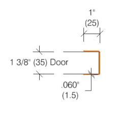 2415 Vinyl Door Edge Guards
