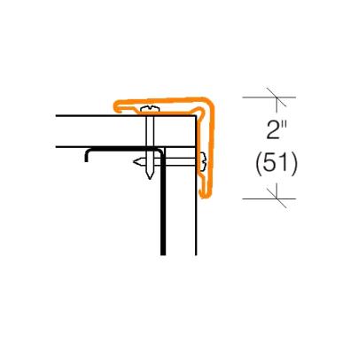 2305.1 ECONOMICAL Corner Guard w/Vinyl Retainer