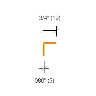 "2325 Textured Corner Guard - 3/4"" Wings 90°"