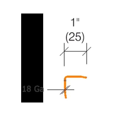 """2330.2- 18 gauge -1"""" Wings - Stainless Steel Corner Guard"""
