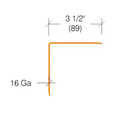 "2330 - Stainless Steel Corner Guard 16 ga - 3.5"" Wing"