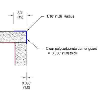 "2335 - 3/4"" Wings - Clear Corner Guard"
