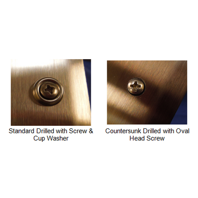 """drilling options for stainless with hardware - 2330.1 - 18 gauge -2"""" Wings - Stainless Steel Corner Guard"""